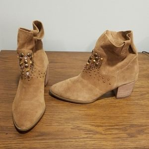Anne Klein Studded Suede Booties